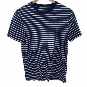 J Crew Blue White Striped Short Sleeve T-shirt NWT